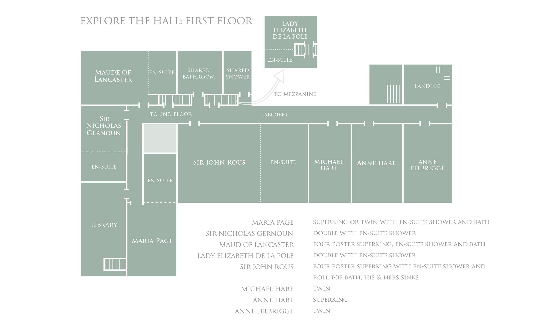 Bruisyard Hall: First Floor