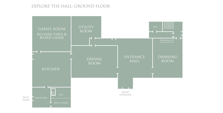 Bruisyard Hall: Ground Floor