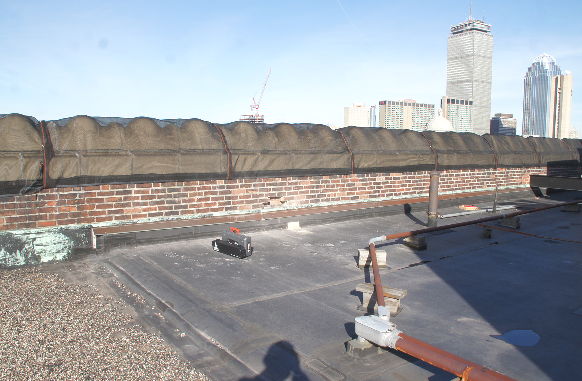 Protective Covering Over Parapet