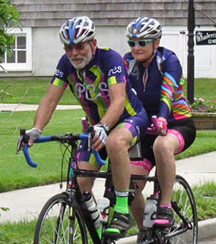 Mel and Barbara Kornbluh, out for a ride together