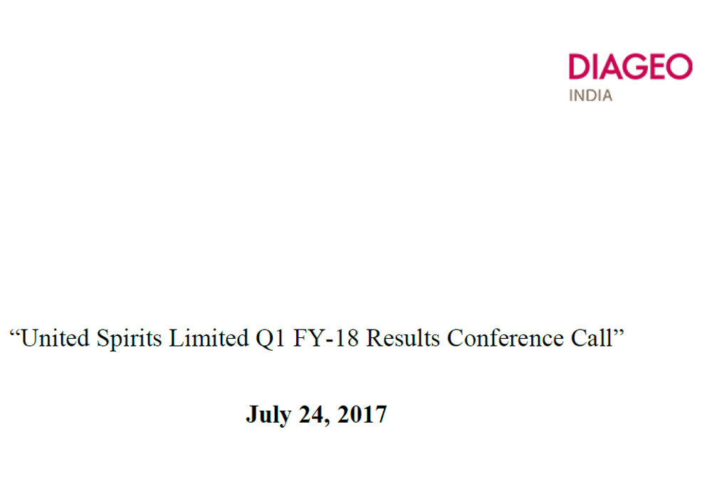 Q1FY18 Concall