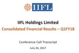 IIFL Q1FY18 concall cover.png