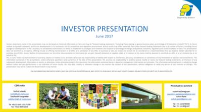FY17 Investor ppt