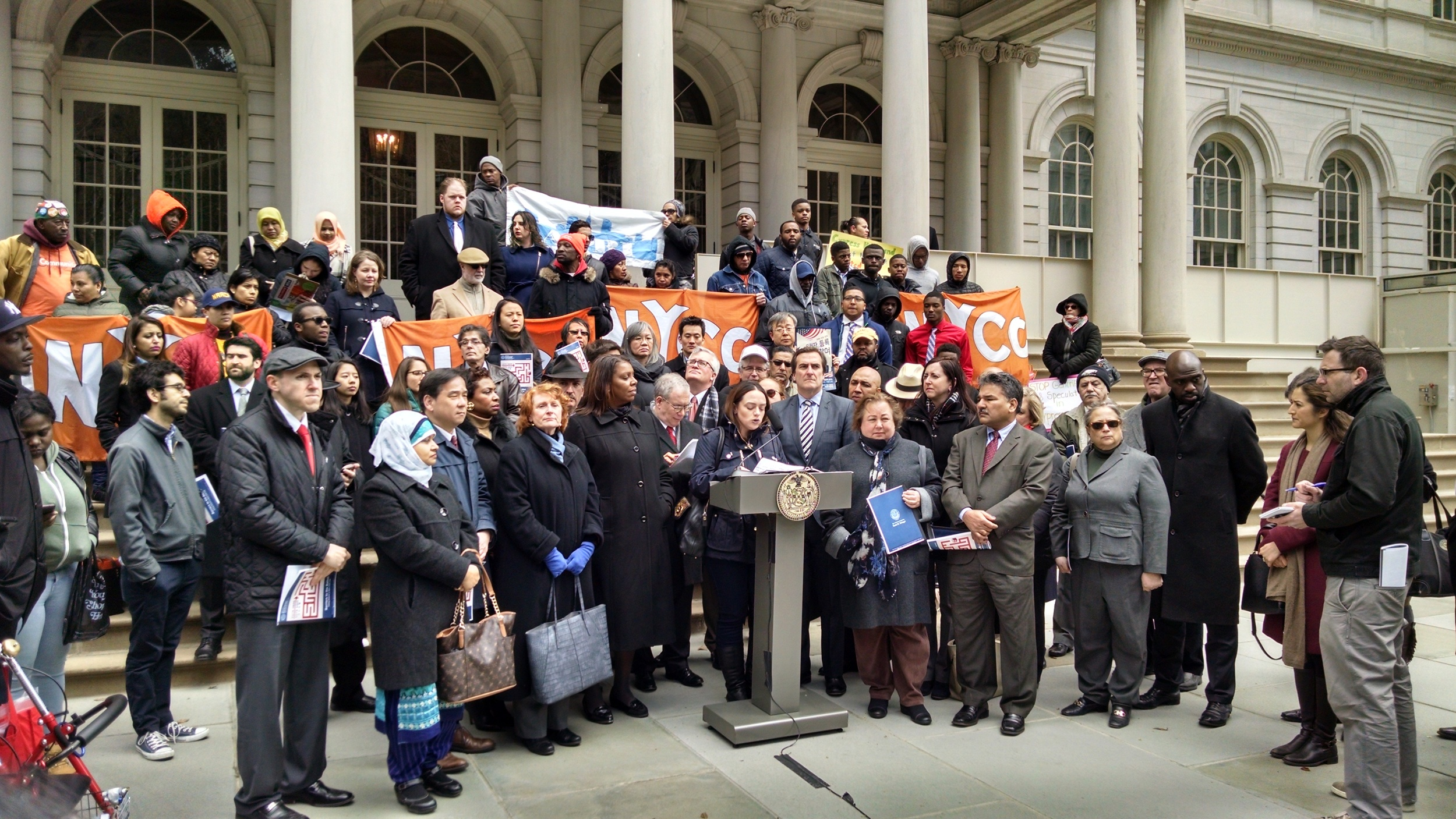 Press Conference hosted by NYC Comptroller Scott Stringer on Board of Elections Reforms.
