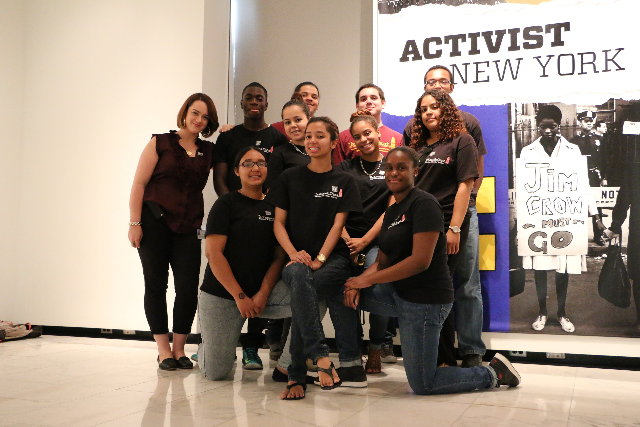 Summer Youth Employment Program (SYEP) Participants learning about Activism.