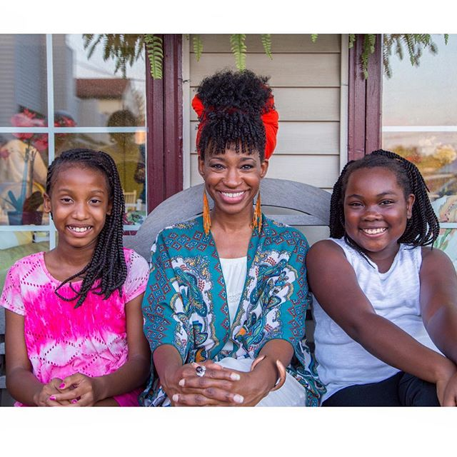 Me & 2 braided beauties 'sittin' pretty' at Friday's event. Are they precious or what?!😍 #thefutureofnaturalhair