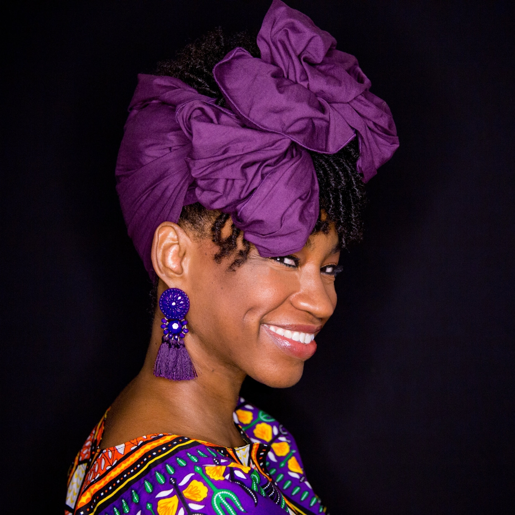 """Orchid"" Head wrap from ""The Wrap Life"" click the picture to visit their website."