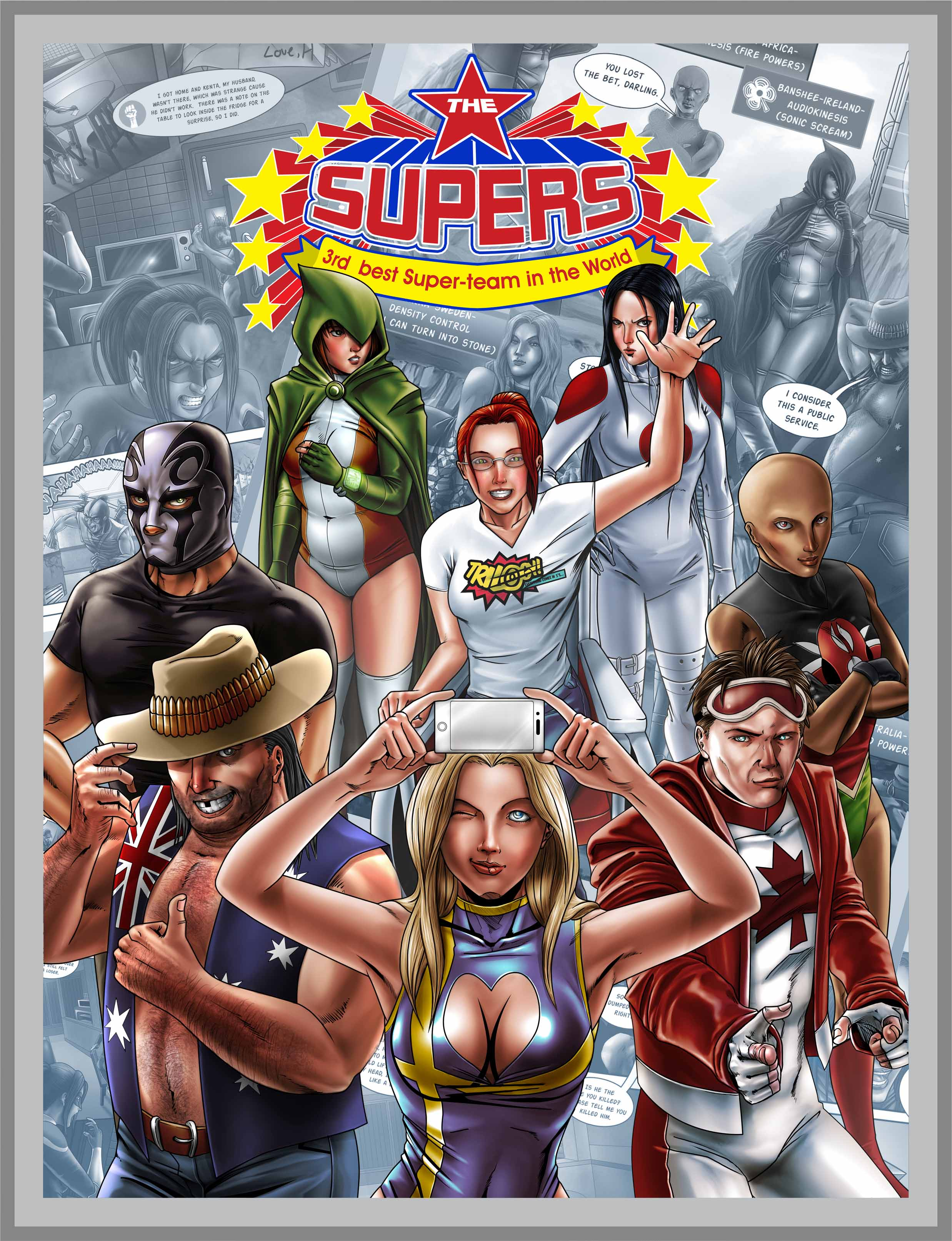The Supers #1 cover...