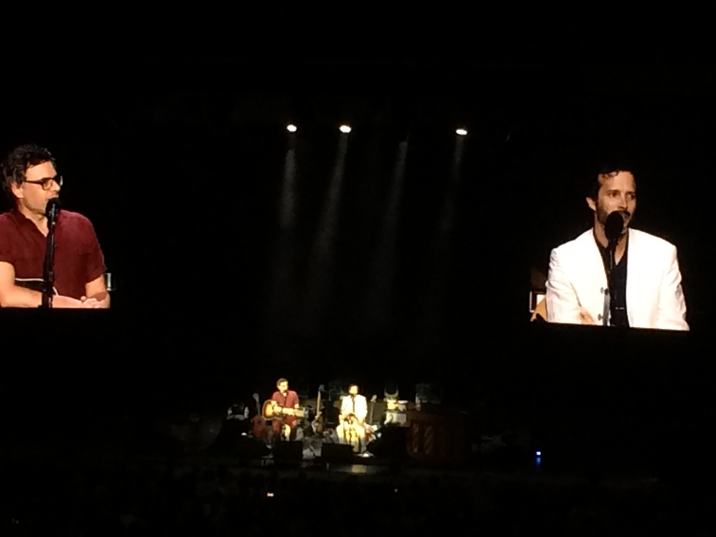 Bret and Jermaine, The Flight of the Conchords live at the Greek Theater in Los Angeles in July 2016