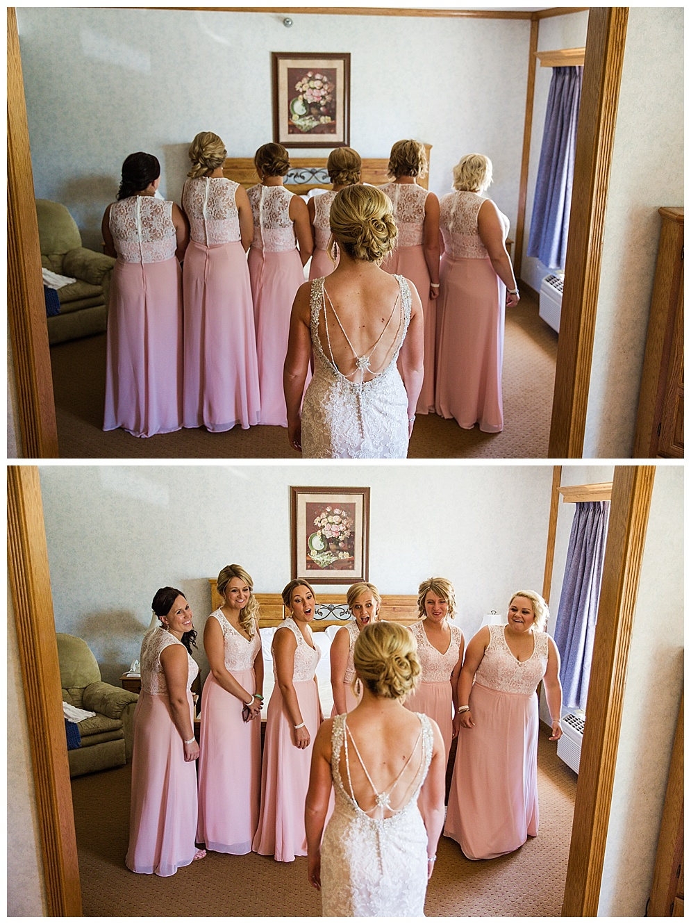 I LOVE doing first looks with the bridesmaids. Their reactions are always priceless!
