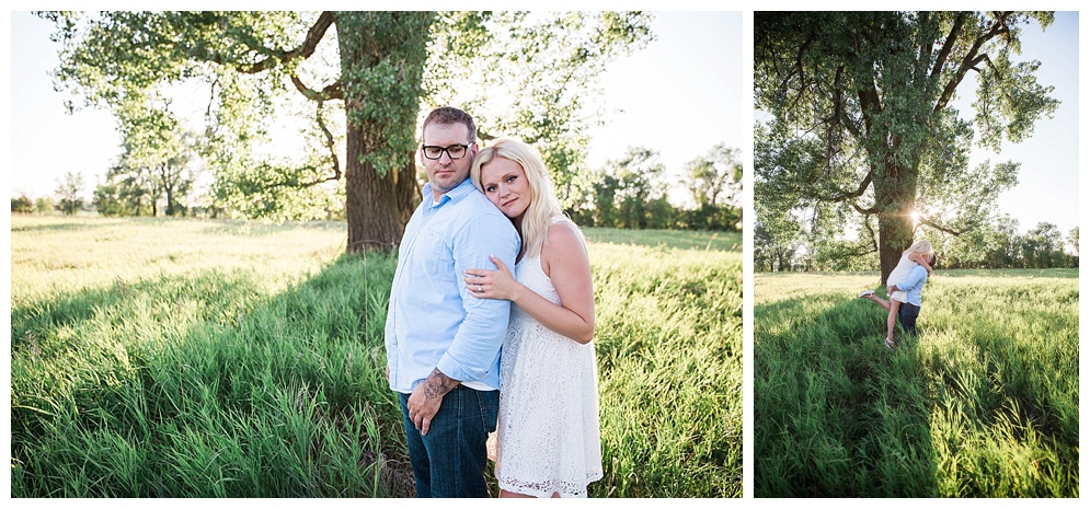 Tori & Tyler traveled from Dickinson for their engagement session. The evening was hot, just like their love! We had the perfect night for engagement pictures;dreamy lighting, stylish outfits, low wind....it was great, minus the mosquitoes! I am so excited to be photographing their wedding next summer as they were a complete blast. I always say, true love is the easiest story to capture!