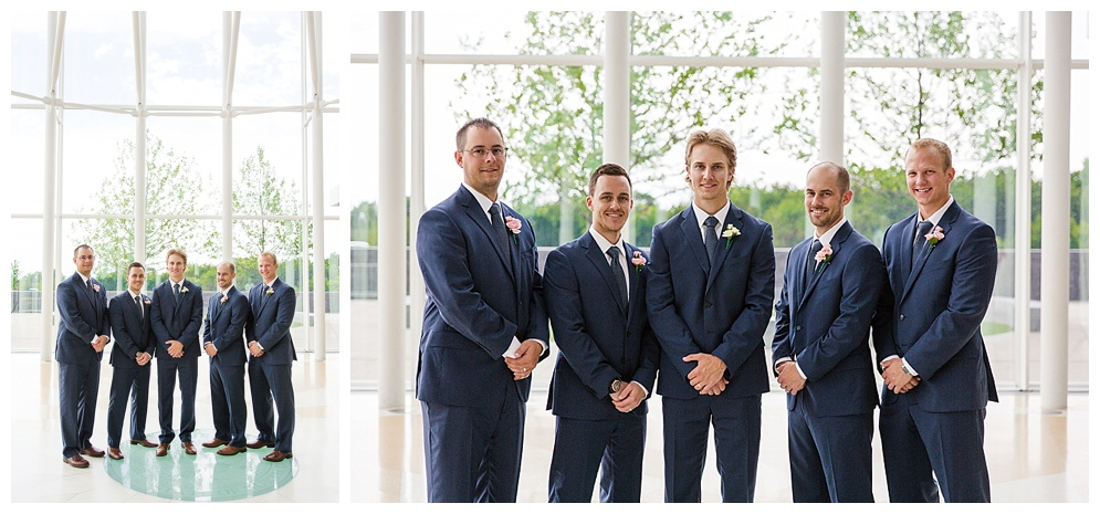 Patrick's groomsmen rocked! I loved their navy blue suits and how well behaved everyone was ;) Thanks for your patients during bridal party pictures!