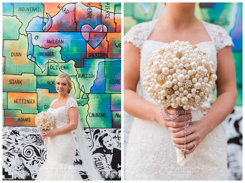 Sonni and I spent an afternoon walking the streets of downtown Bismarck, scouting out locations for her urban themed wedding day. The art wall was definetly a favorite!