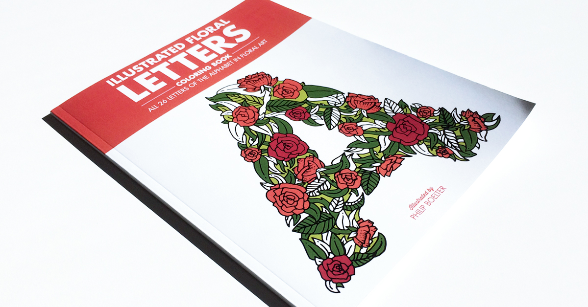 Illustrated Floral Letters Coloring Book