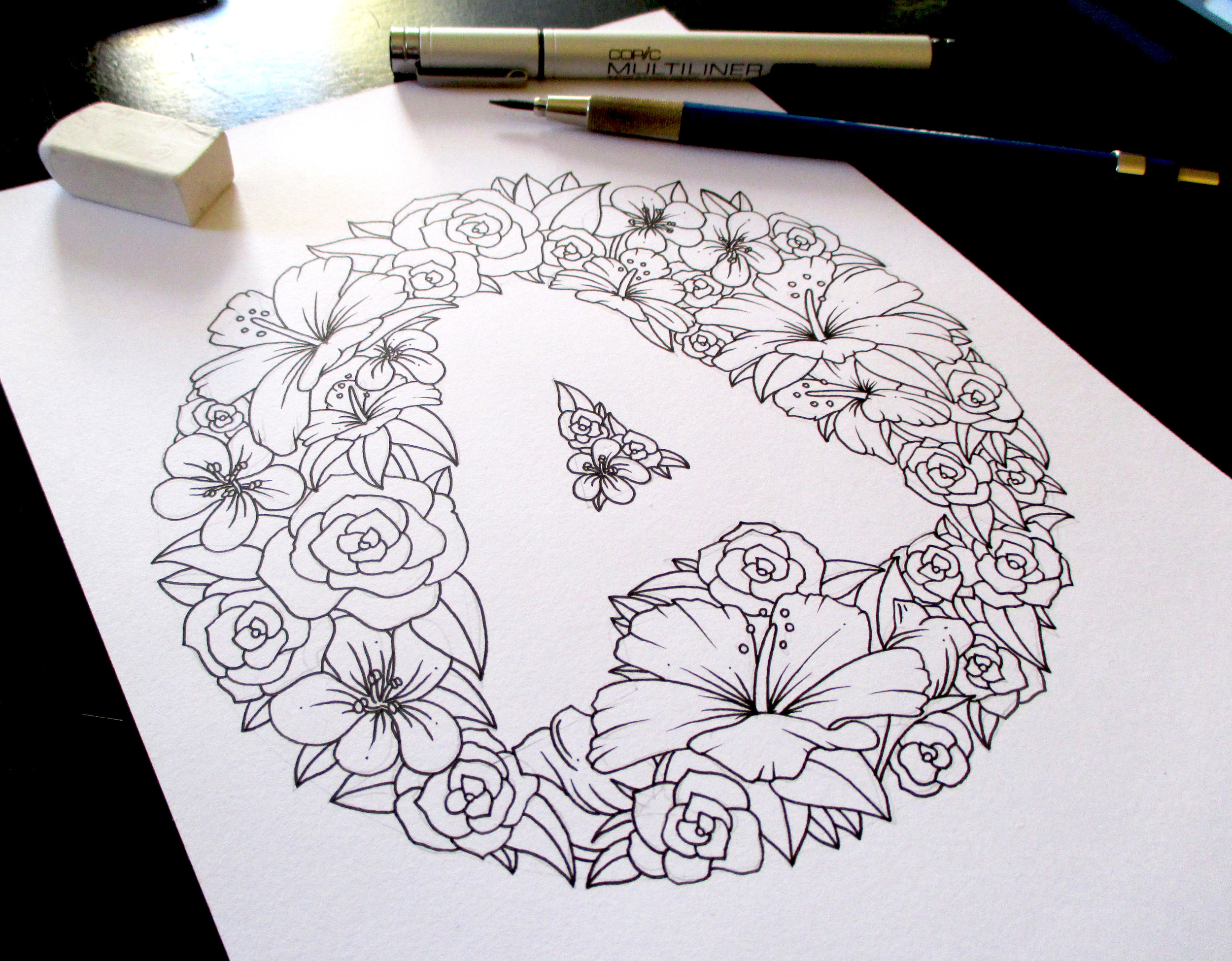 Floral Letter A Collection 2