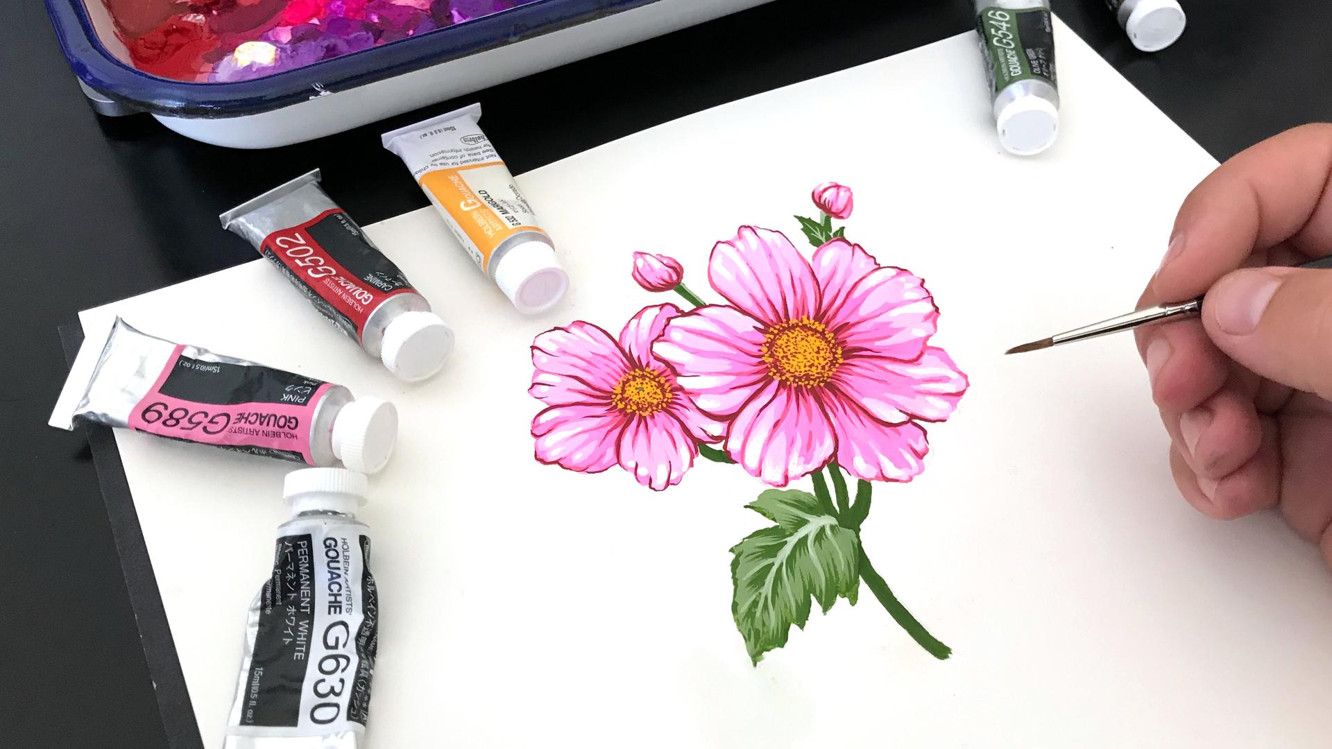 18-09-28-Japanese-Anemone-Flower-Gouache-Painting-thumb.jpg