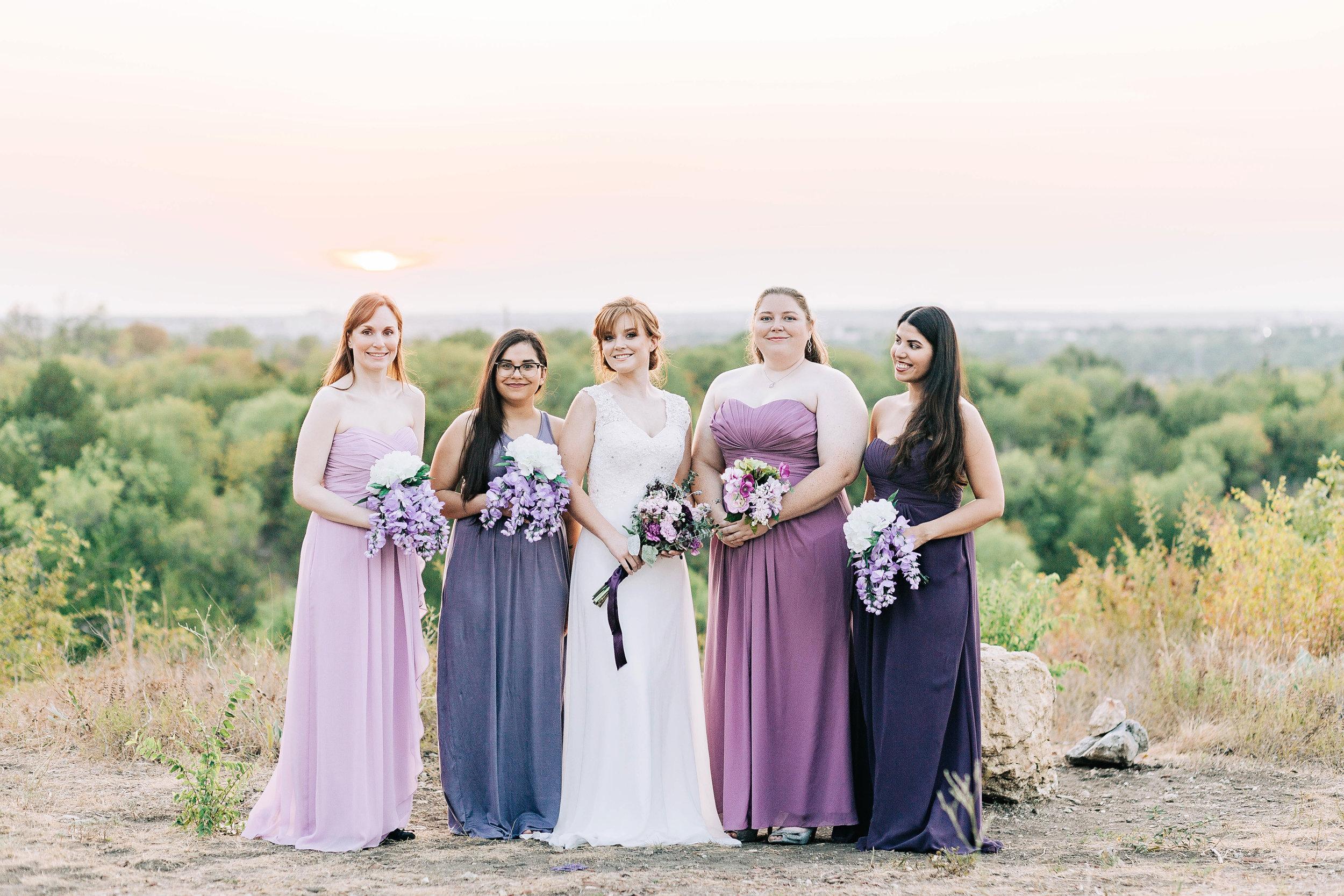 Dallas Fort Worth bridal party