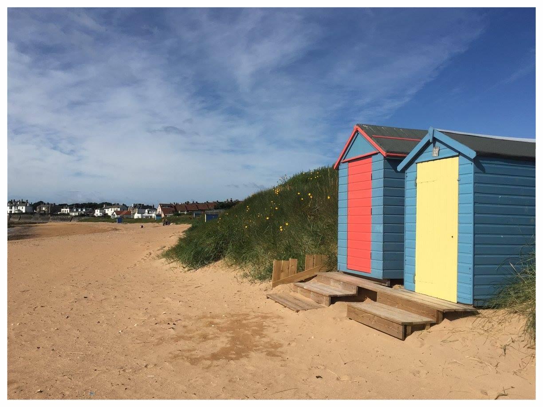 Beach Huts on Elie