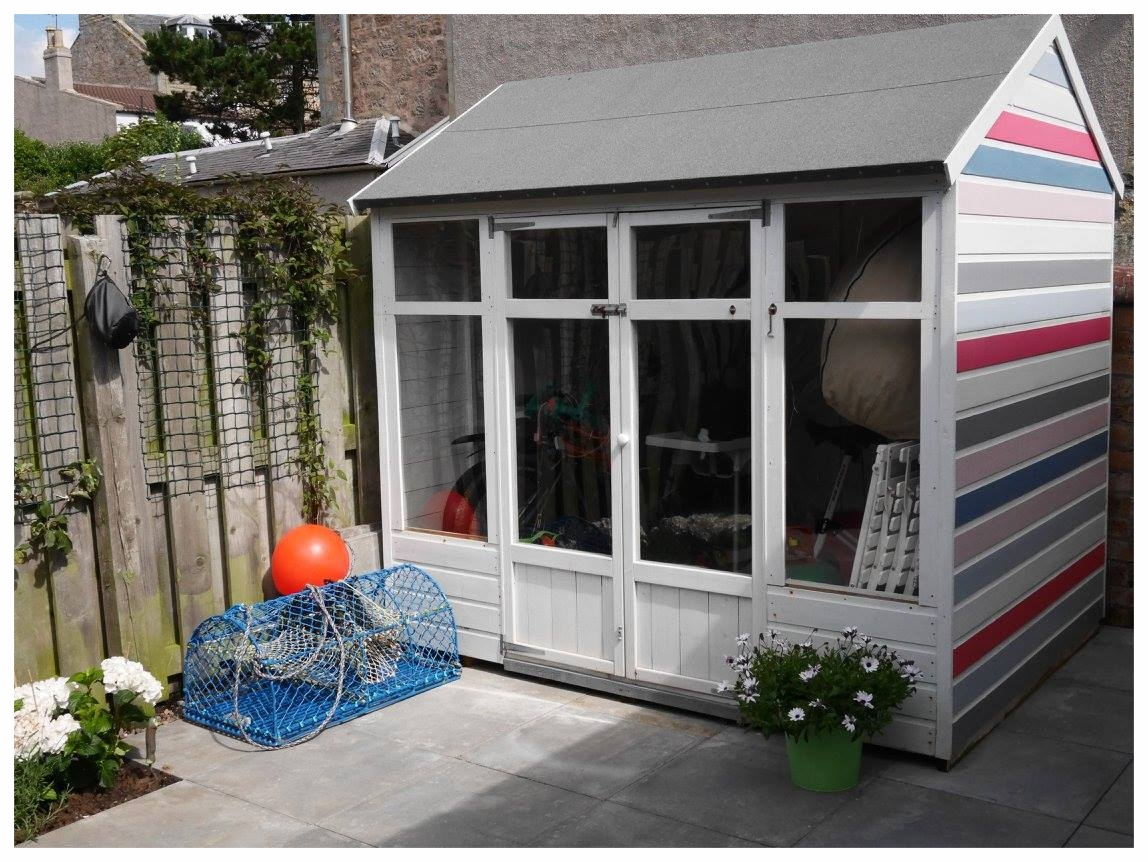 Backyard Shed and Lobster Pot