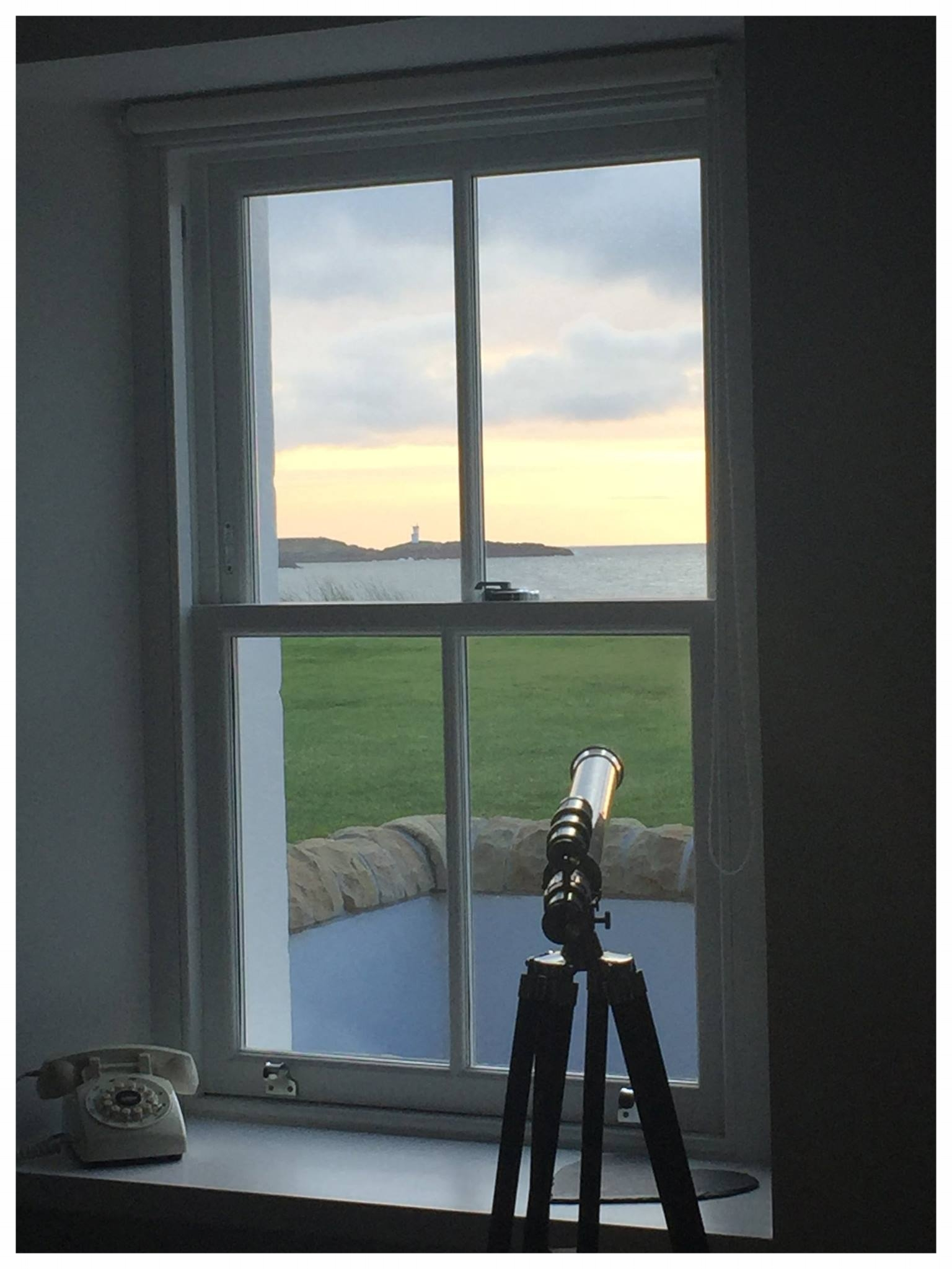 View to the lighthouse from the living room