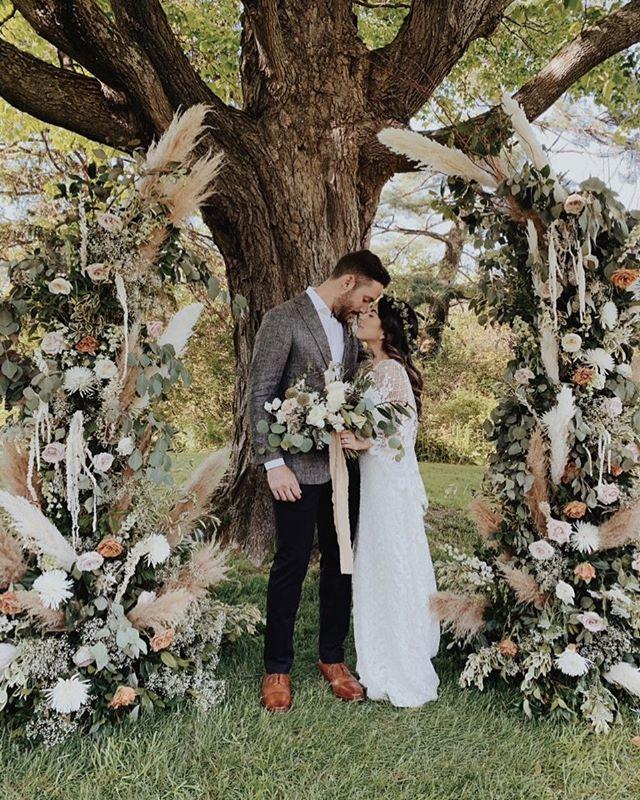 Under the Maple Tree Daniella and Juan🙌💕✨ . #weddingday #weddingcouple #weddingphotography #hudsonvalleyweddings #brideandgroom #weddinginspiration #weddingflowers #weddingdress #weddingvenue #bohemianwedding #countrywedding #instabride #instagroom #instawedding #instalove  #windrifthall