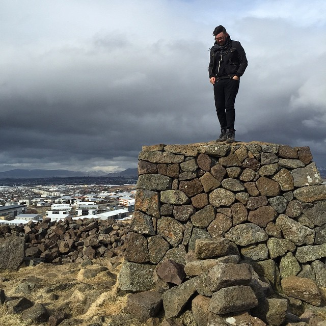 Me on a thing in Iceland