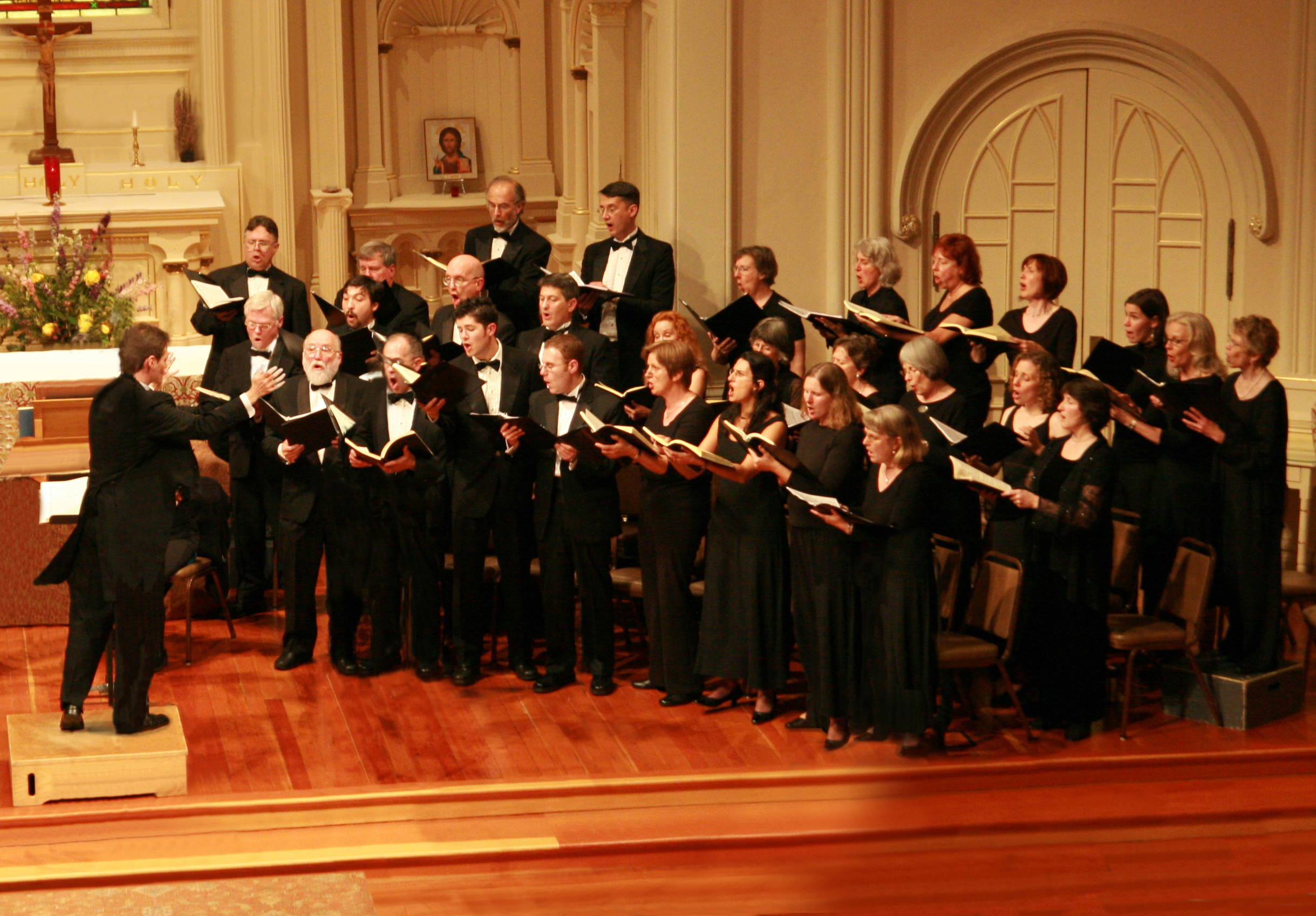 In concert, St John Passion, May 2010.