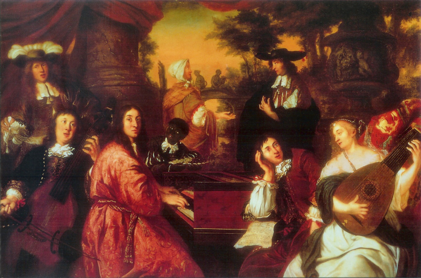 Buxtehude playing the viola de gamba. By  Johannes Voorhout  (1673).