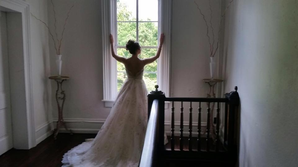The refined elegance of the entry hall leading to the Stardust Room, perfect setting for this beautiful bride....