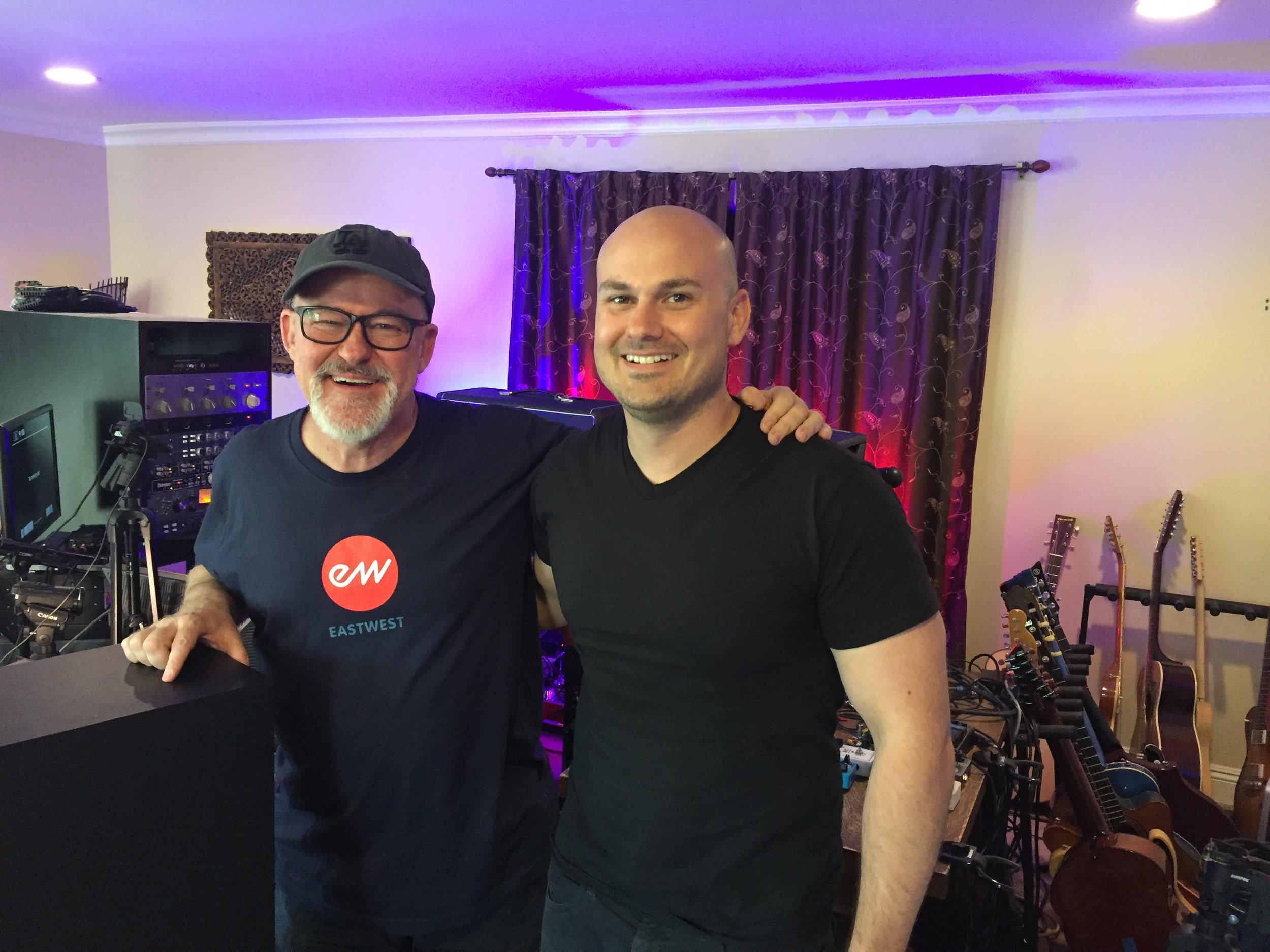 Hanging with session Ace/ Guitar Hero Tim Pierce at his LA studio