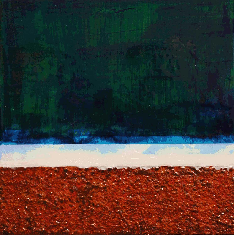 Nehalennia 3,2015 Acrylic on wood panel, 24 x 24 inches.