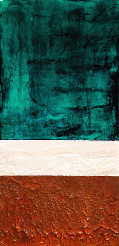 Nehalennia 2,2015 Acrylic on canvas, 6 x 12 inches.