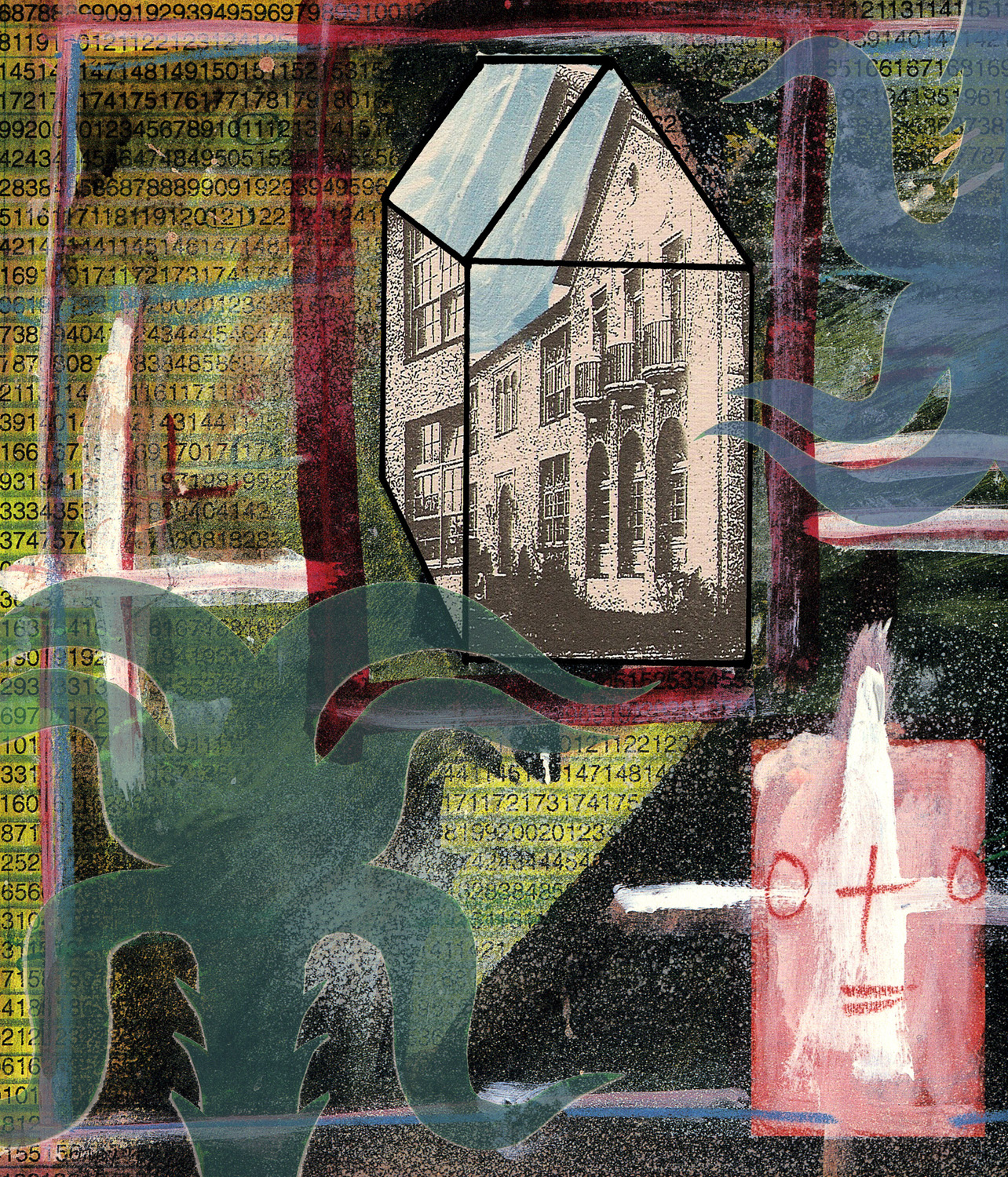 Reflective Dwelling, Digital Print.  32 x 28 inches unframed.