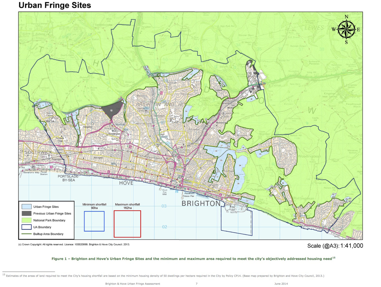 BHCC Urban Fringe Assessment 2014