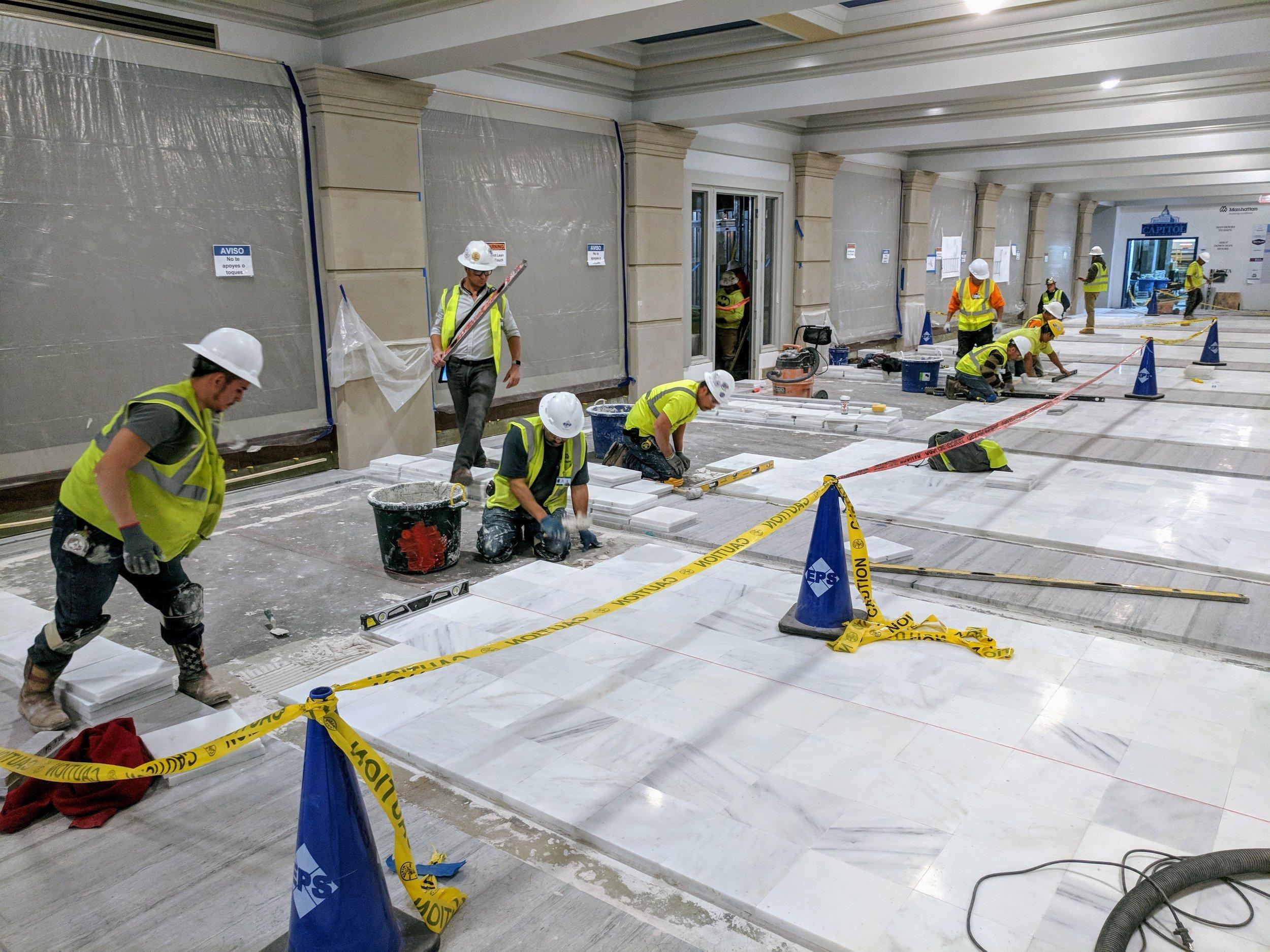 Level 1 West Corridor Mid-Install (January 2018).jpg