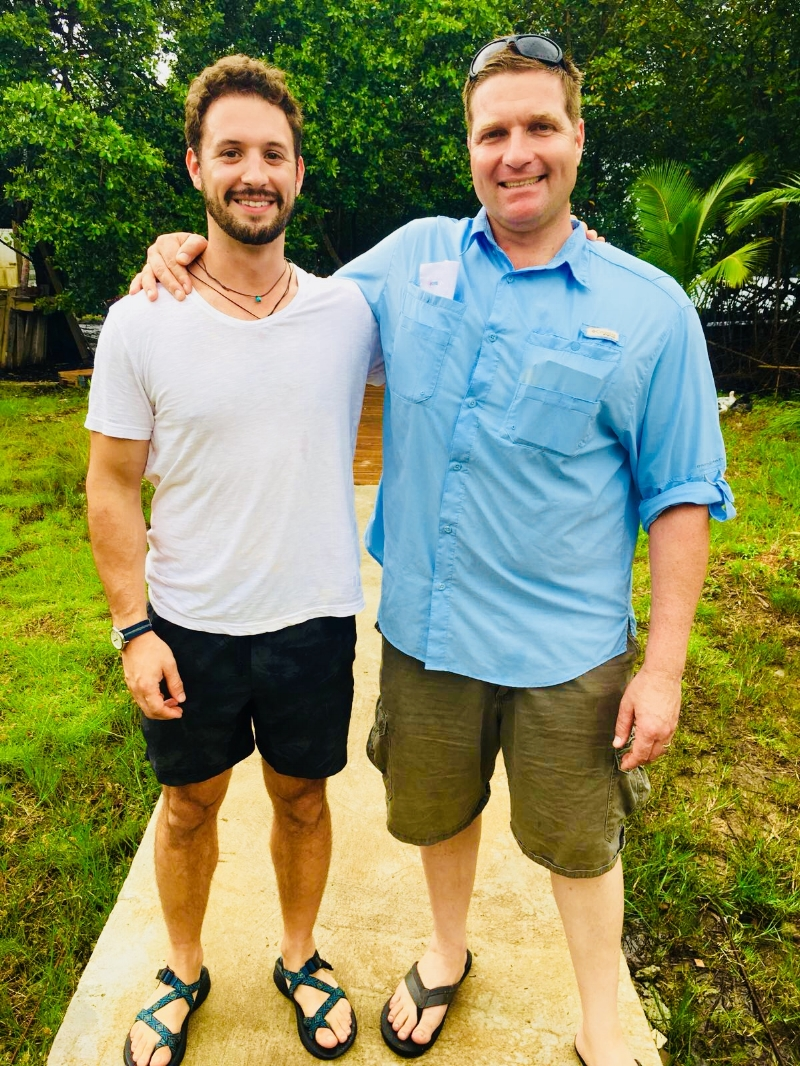 Ethan Klausmeyer alongside Floating Doctors founder and CEO Dr. Benjamin LaBrot