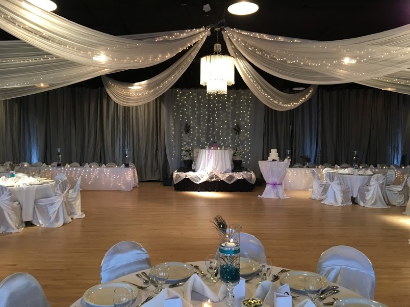White Decor For Wedding Reception Majestic Hall