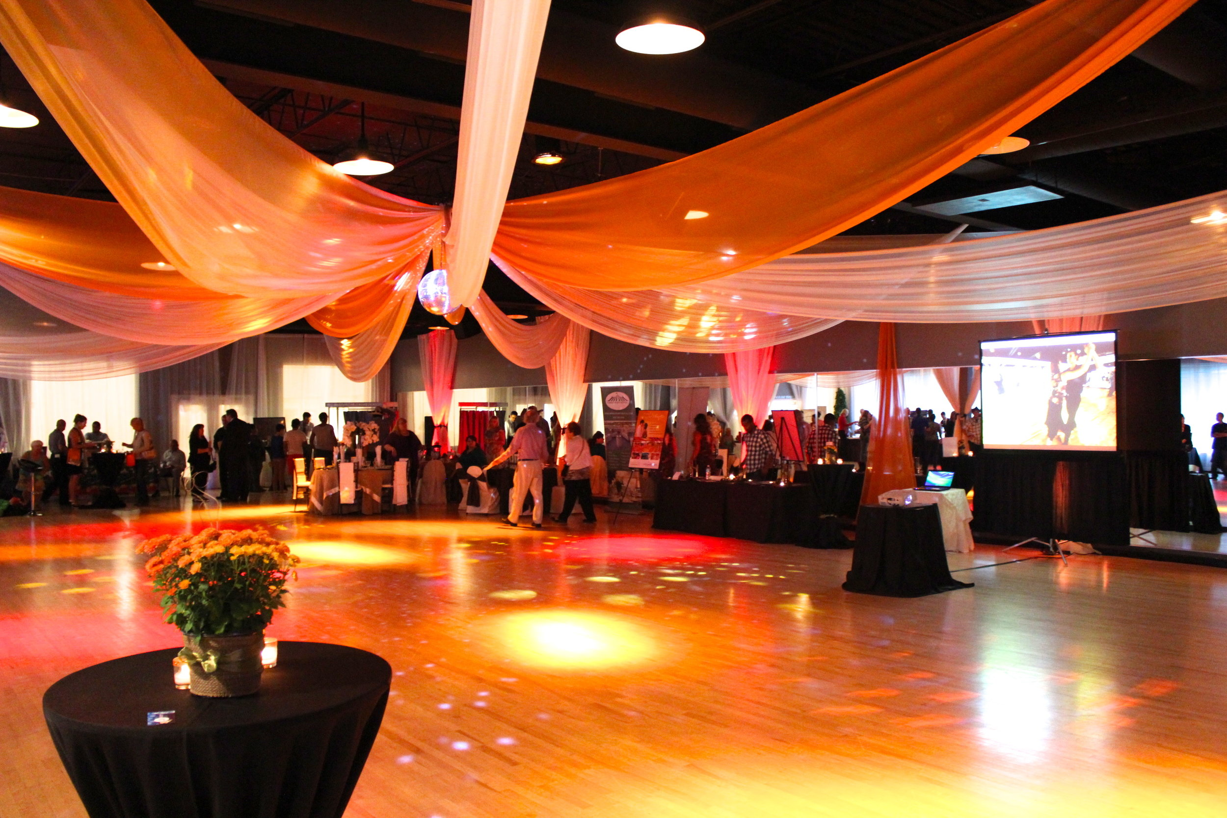 Orange Themed Networking Event