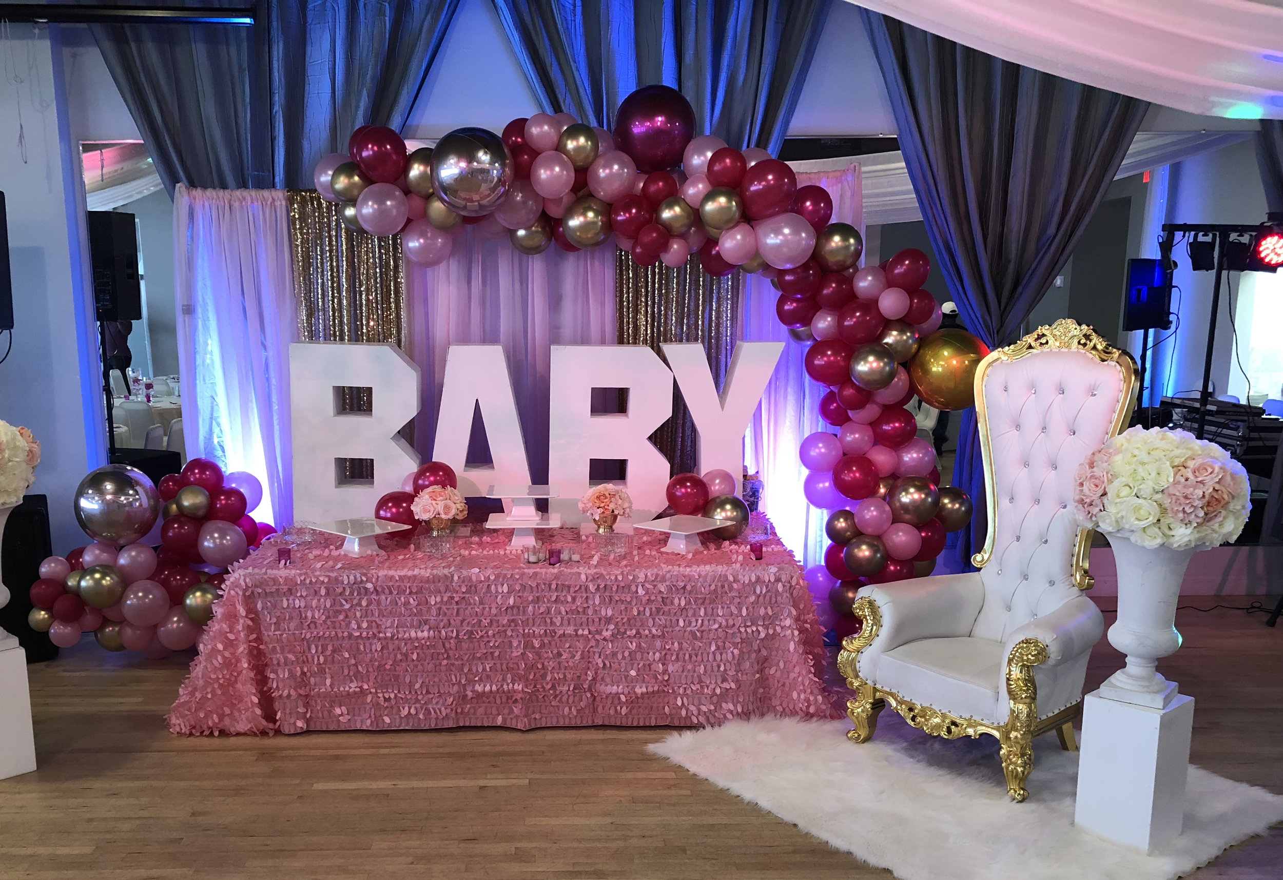 Midpointe Event Center Sterling Hall Baby Shower Pink and Gold.jpg