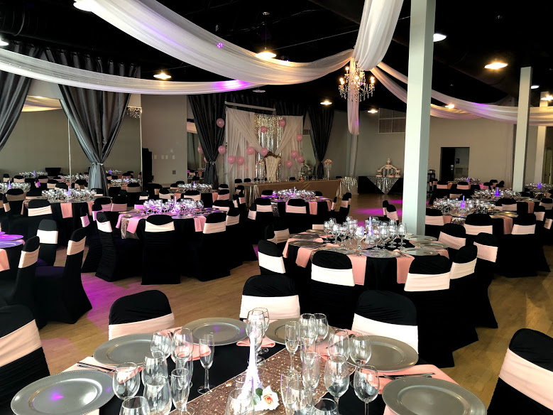 MIdpointe Event Center Sterling Hall Black Rose Gold Themed Decor.jpg