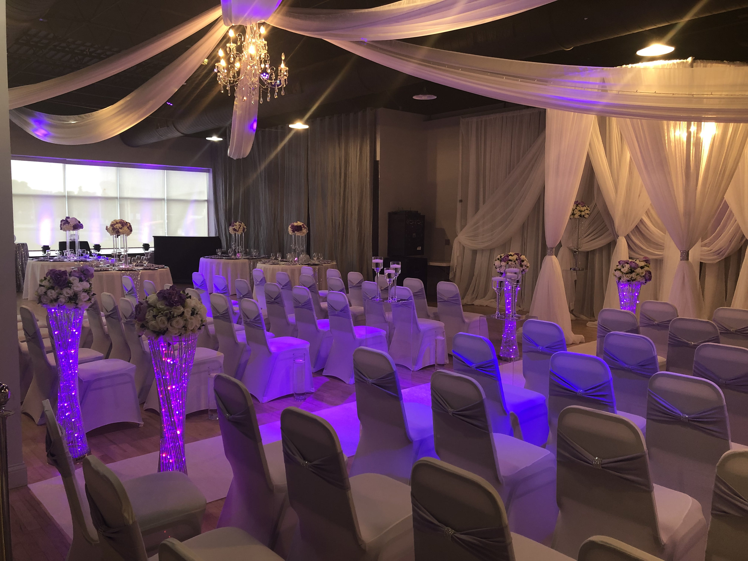 MIdpointe Event Center Sterling Hall Wedding Ceremony Purple Layout.jpg