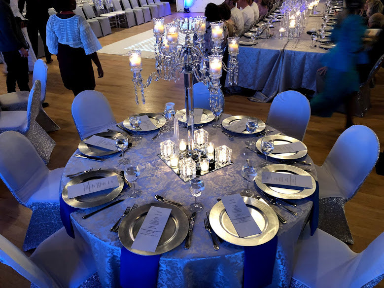 Midpointe Event Center Majestic Hall Silver and Purple Table Decor Wedding Cermony and Reception.jpg