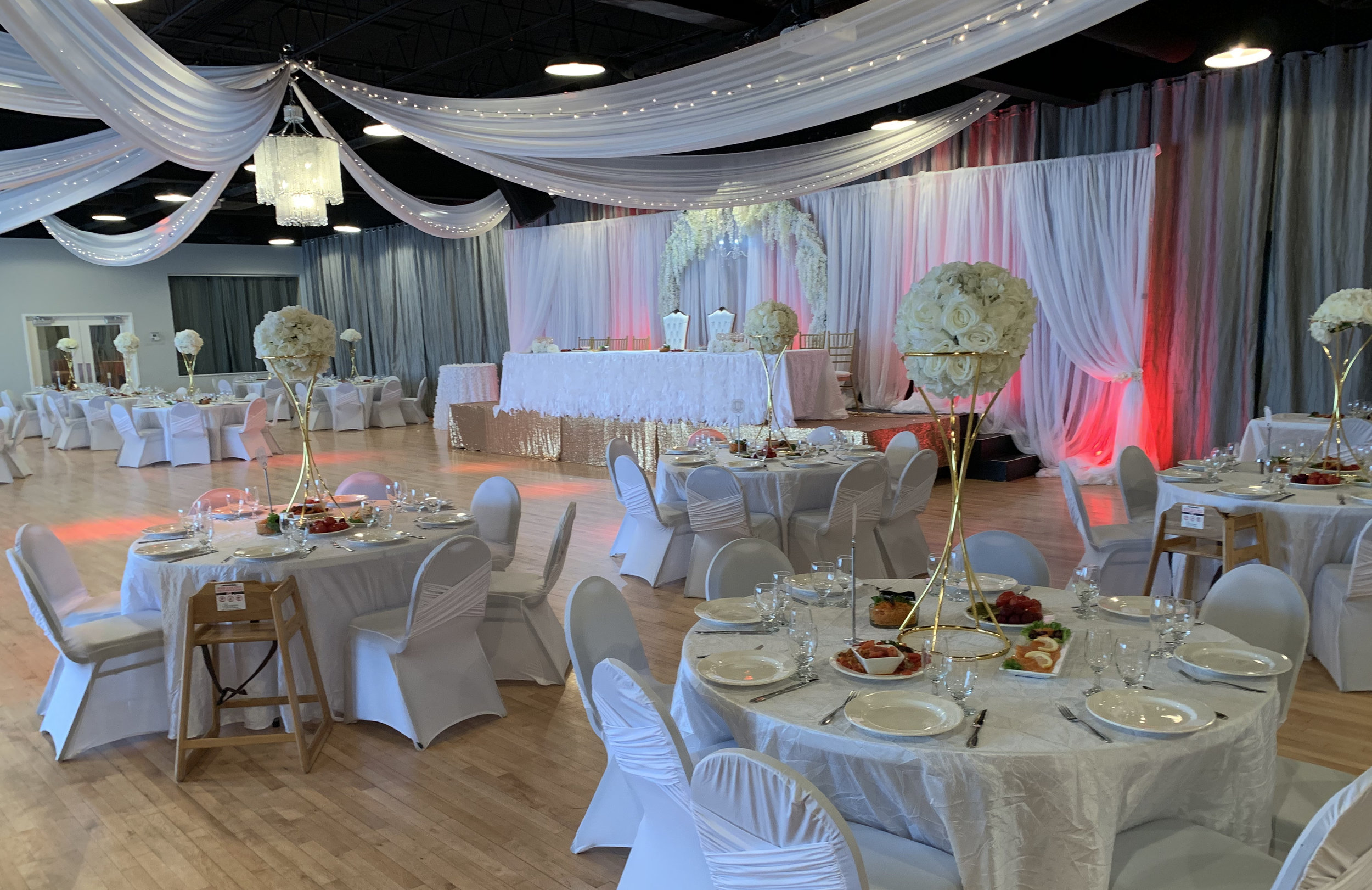 Midpointe Event Center Wedding Reception Pink and White.jpg