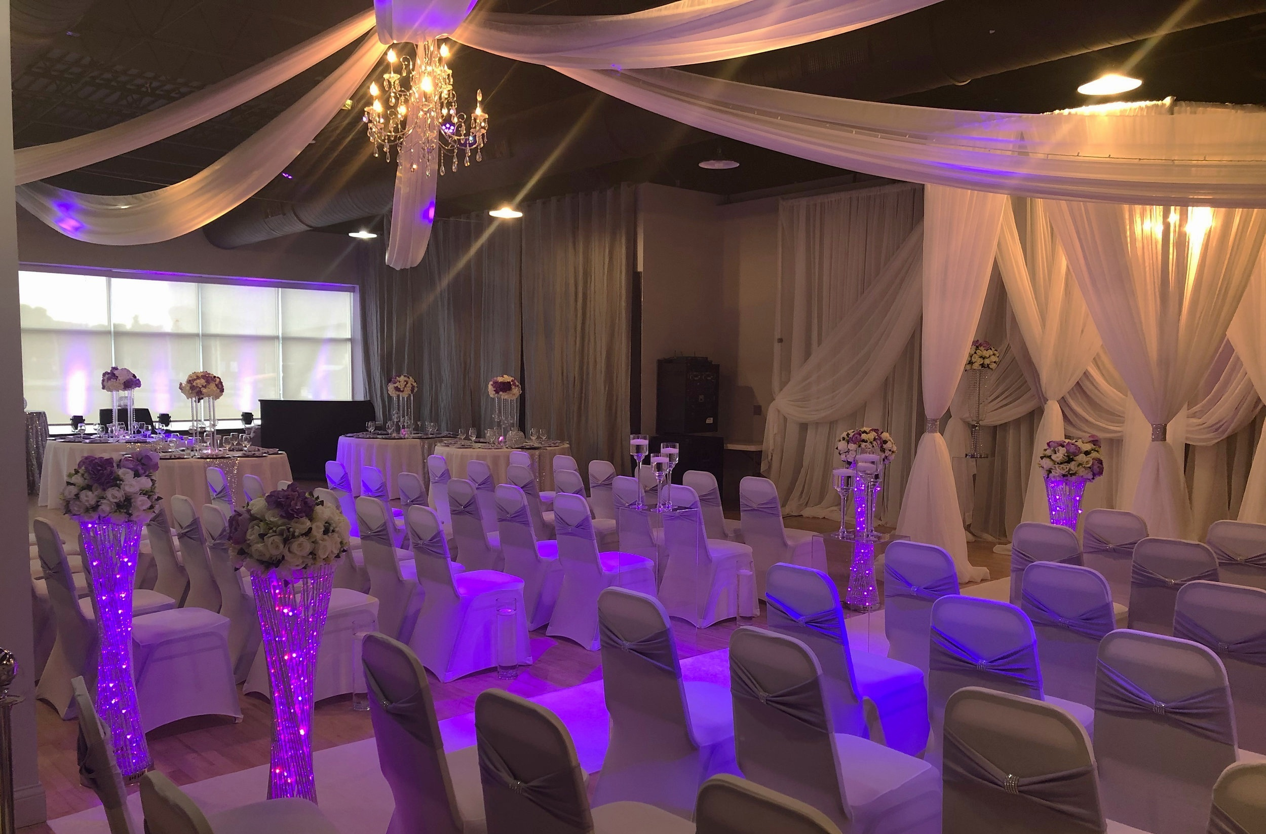 STERLING HALL - Offering 3,500 square feet of event space for up to 140 guests, it's the perfect choice for more intimate celebrations and gatherings.