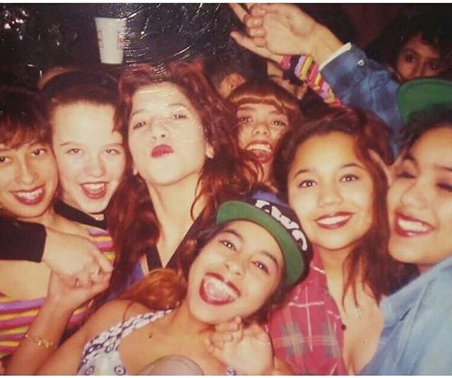 Los Angeles Wild Girls Crew circa 1992 Cypress Park, Los Angeles CA  Photo: @akiravictoria5150  Female party crews- don't forget to submit those party crew photos! Any city, any year!