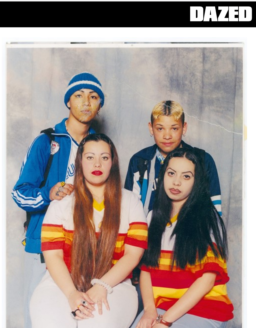 Swing Kids party crew from San Gabriel Valley, 1994Courtesy Guadalupe Rosales and Deborah Meza