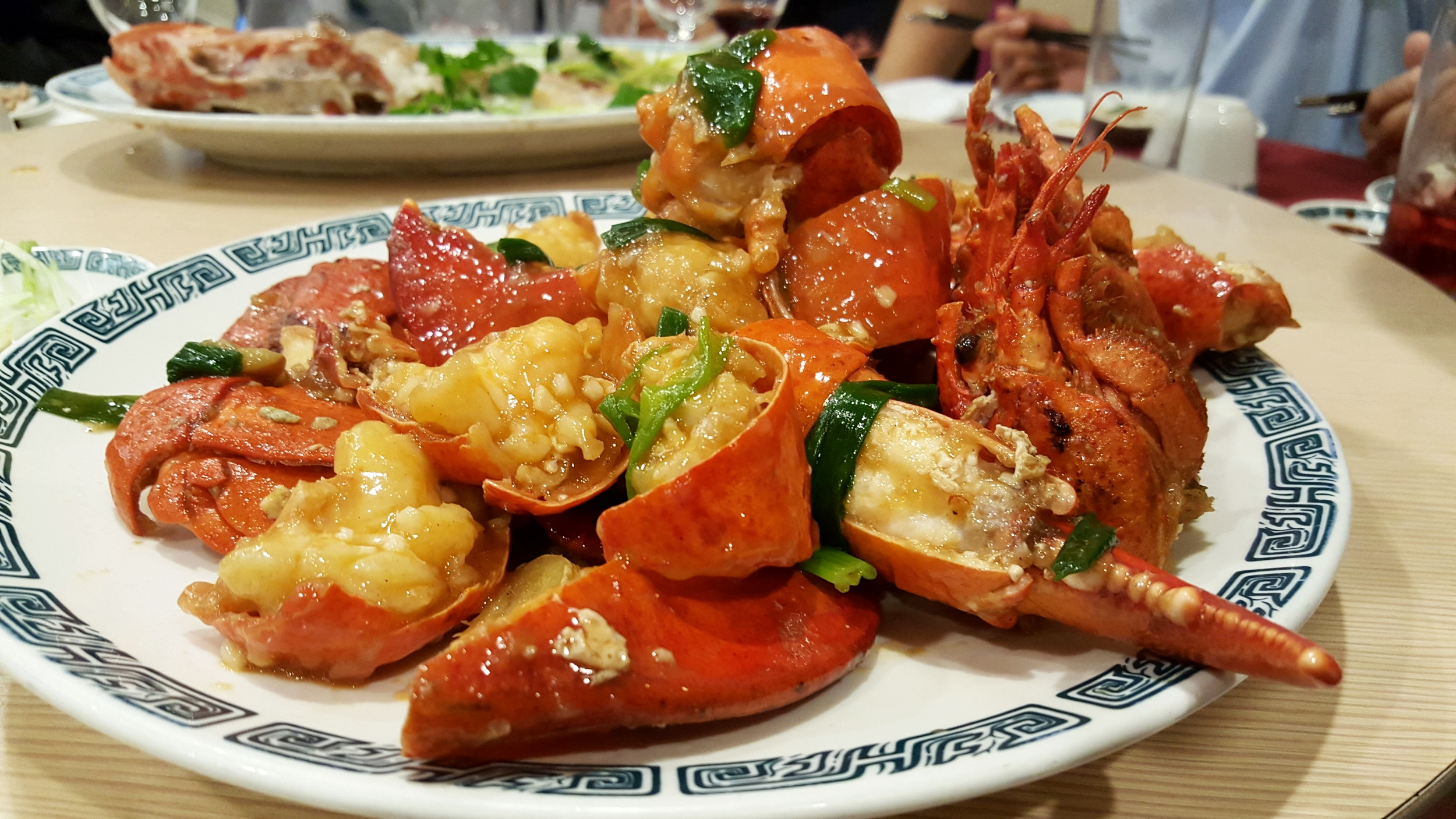 Baked Lobsters with Ginger & Green Onion