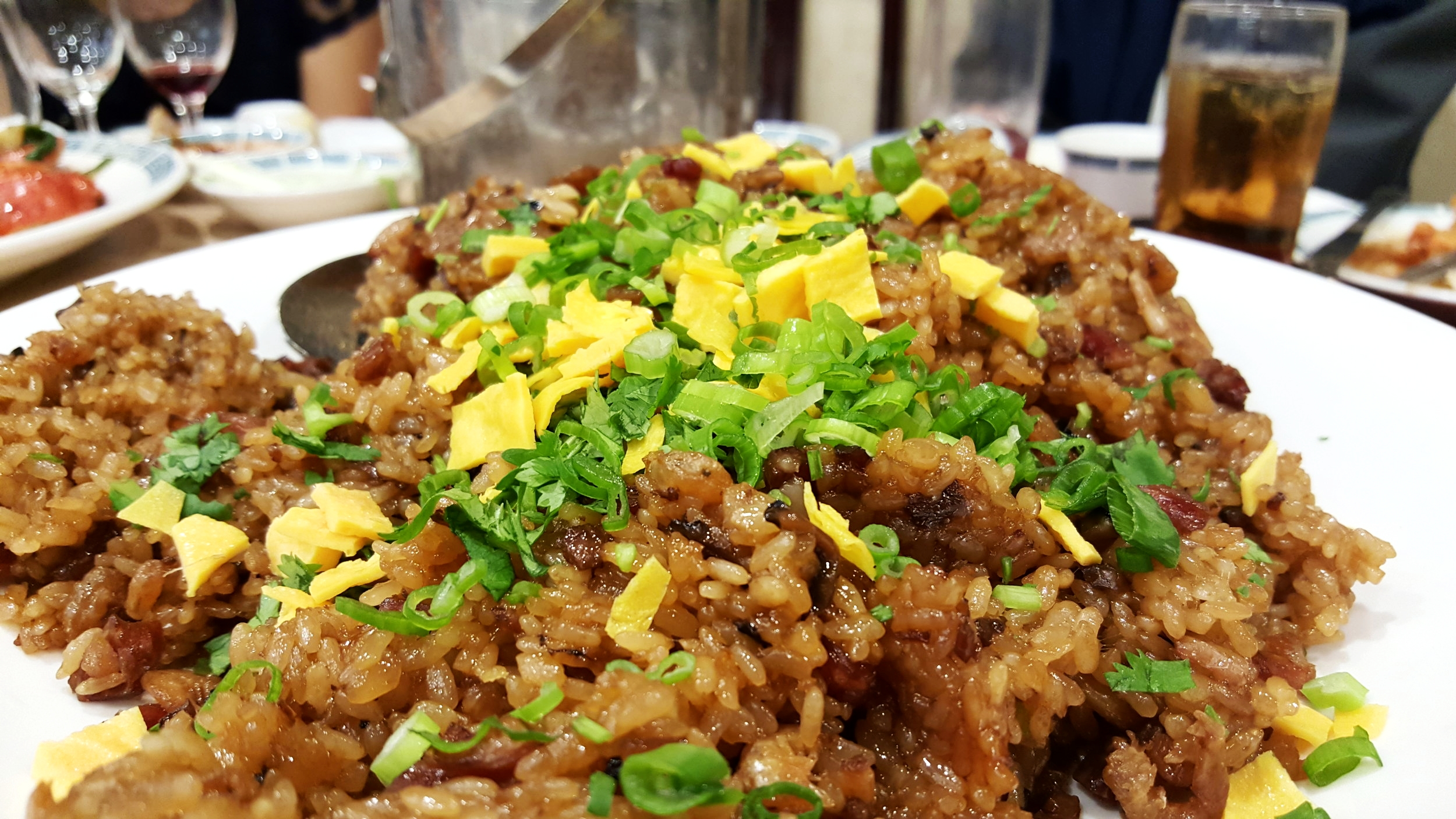 Fried Sticky Rice with Diced Chinese Sausage