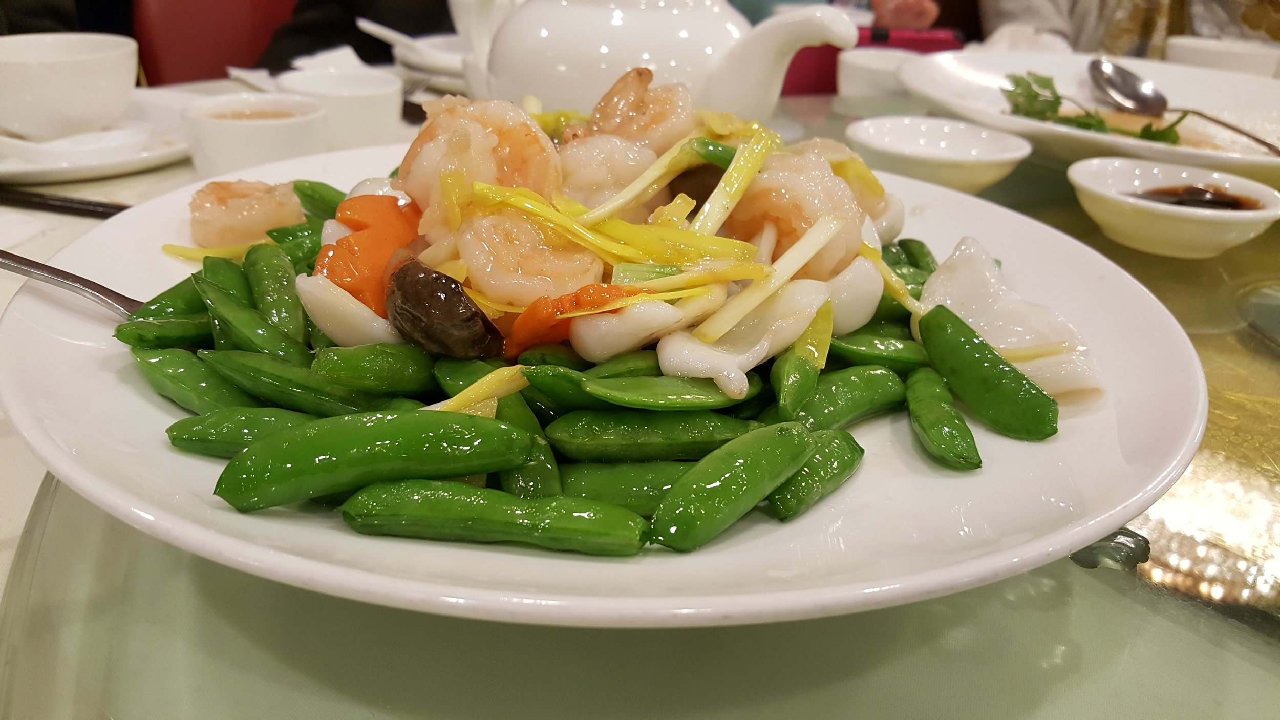 Sauteed Shrimp & Tender Greens