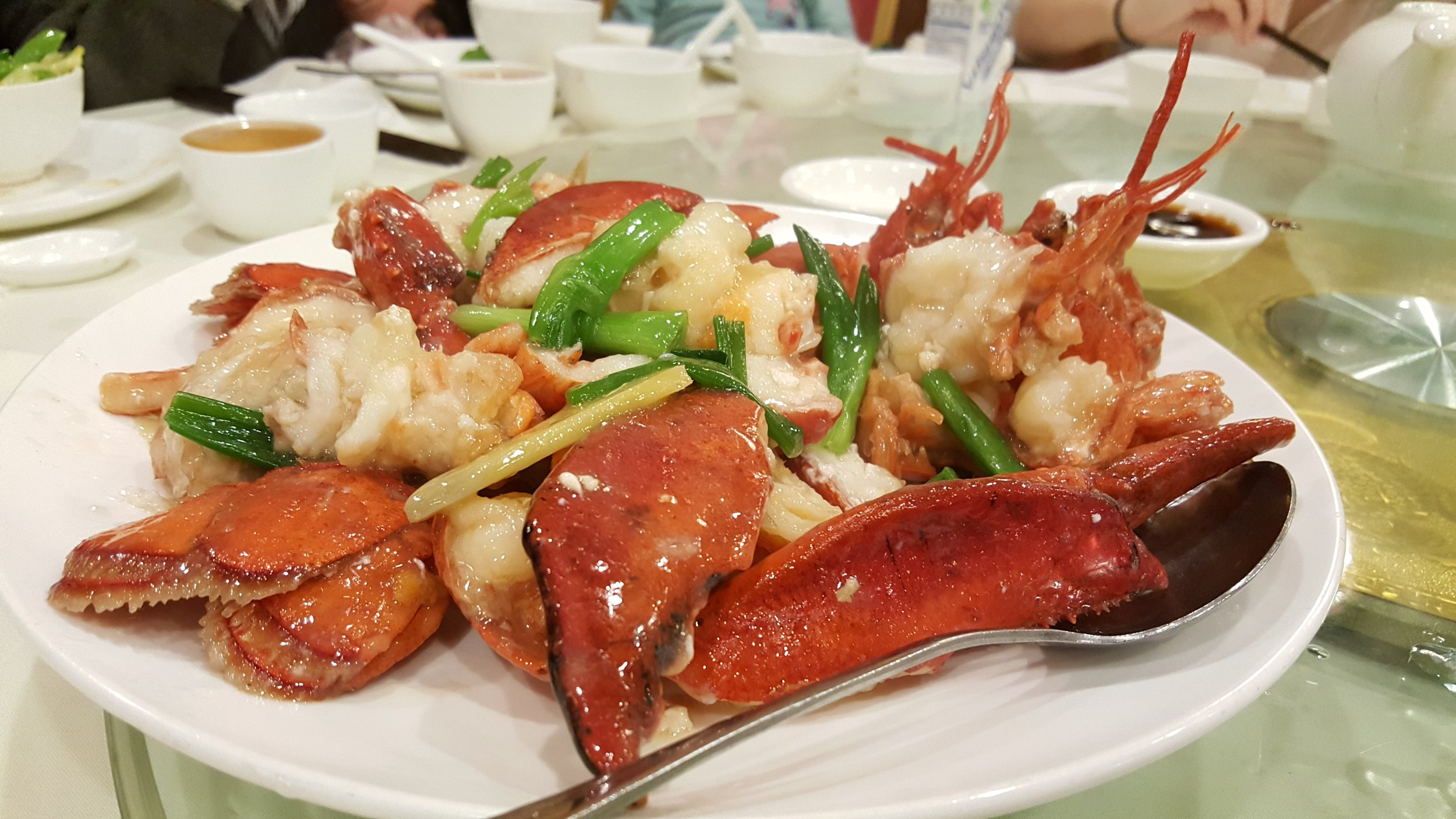Ginger Onion Fried Lobster